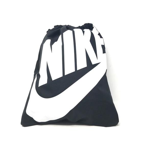 ef818ddd1c62 Authentic Nike Heritage Drawstring Bag Black White.  M 5b6e0aeddcfb5a457b088135